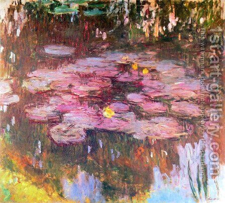 Water Lilies 50 by Claude Oscar Monet - Reproduction Oil Painting