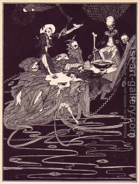 Tales of Mystery and Imagination by Edgar Allan Poe 8 by Harry Clarke - Reproduction Oil Painting