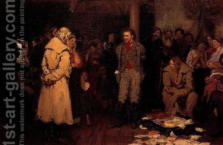 Putting a Propagandist Under Arrest by Ilya Efimovich Efimovich Repin - Reproduction Oil Painting
