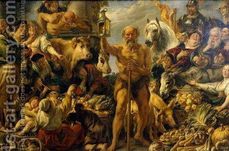 Diogenes Searching for an Honest Man by Jacob Jordaens - Reproduction Oil Painting