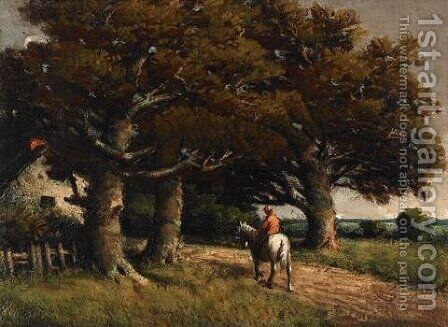 Landscape with Horse and Rider by Homer Watson - Reproduction Oil Painting