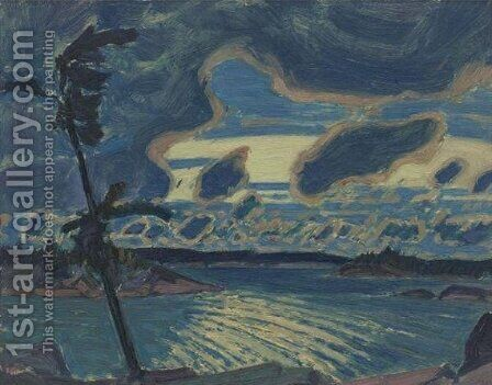 After Sunset, Georgian Bay by James Edward Hervey MacDonald - Reproduction Oil Painting