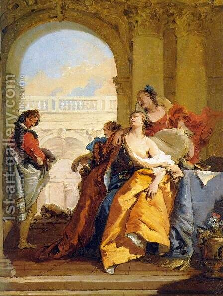 The Death of Sophonisba by Giovanni Battista Tiepolo - Reproduction Oil Painting