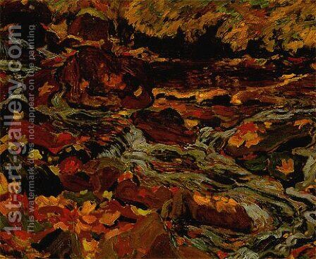 Leaves in the Brook by James Edward Hervey MacDonald - Reproduction Oil Painting