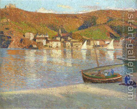 Sailboats in the Port 2 by Henri Martin - Reproduction Oil Painting