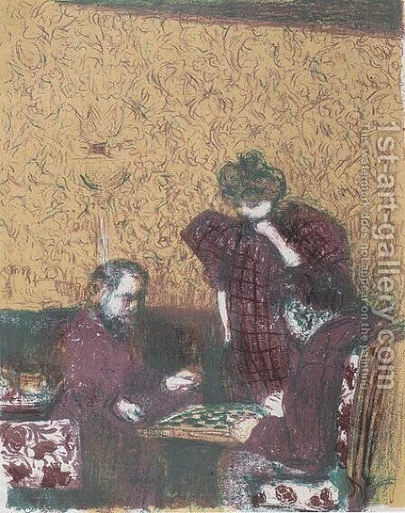 The Damepartie by Edouard  (Jean-Edouard) Vuillard - Reproduction Oil Painting