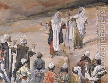 Moses Forbids the People to Follow Him by James Jacques Joseph Tissot - Reproduction Oil Painting