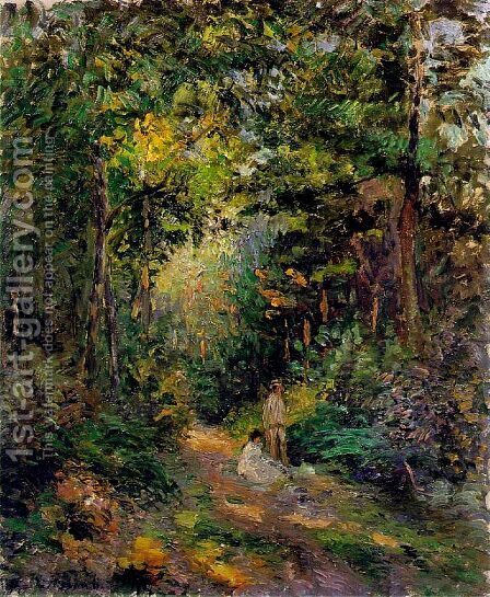 Autumn, Path through the Woods by Camille Pissarro - Reproduction Oil Painting
