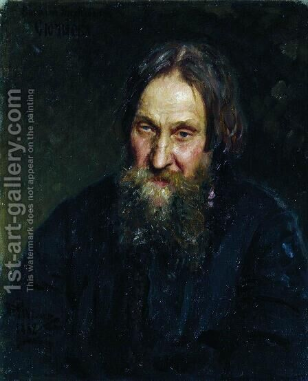 Portrait of Vasily Kirillovich Syutayev by Ilya Efimovich Efimovich Repin - Reproduction Oil Painting