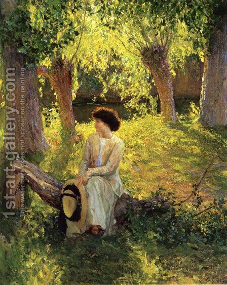 Warm Afternoon by Guy Rose - Reproduction Oil Painting