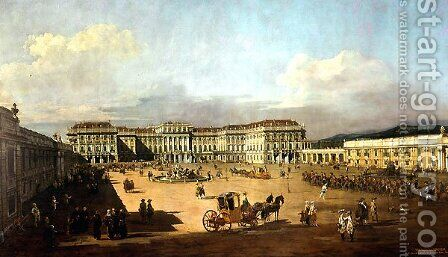Schloss Schonbrunn by Bernardo Bellotto (Canaletto) - Reproduction Oil Painting