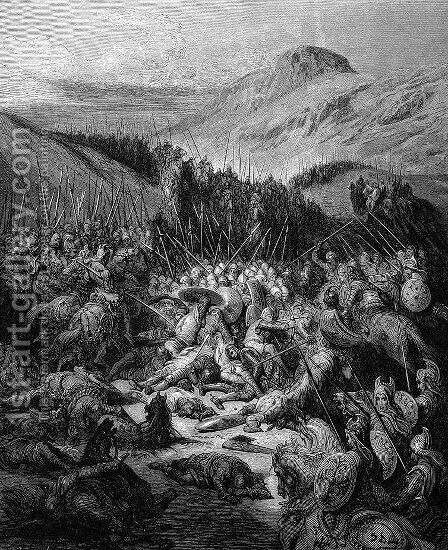 The Battle of Arsuf by Gustave Dore - Reproduction Oil Painting