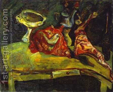 The Table by Chaim Soutine - Reproduction Oil Painting