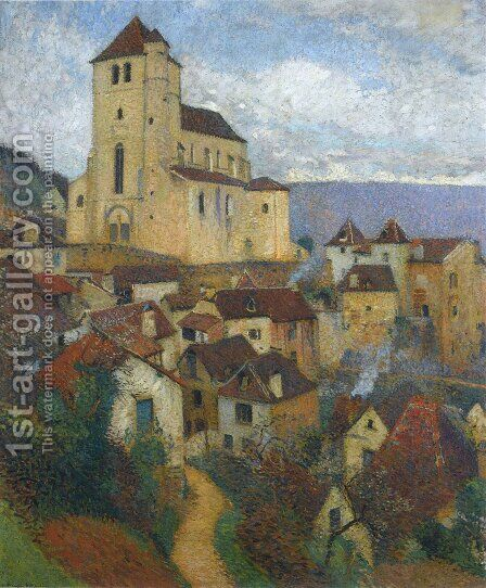 Saint Cirq Lapopie 2 by Henri Martin - Reproduction Oil Painting