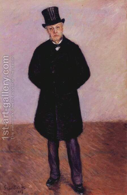 Portrait of Jean Daurelle 2 by Gustave Caillebotte - Reproduction Oil Painting