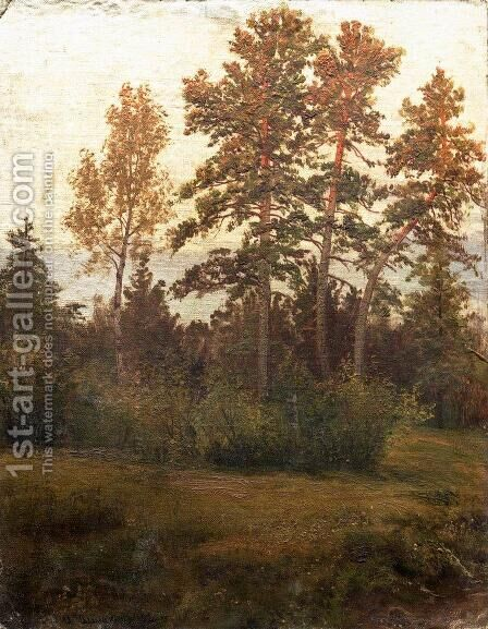 Edge of the Forest 5 by Ivan Shishkin - Reproduction Oil Painting
