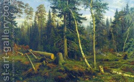 Logging by Ivan Shishkin - Reproduction Oil Painting