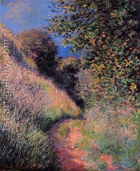Path at Pourville 2 by Claude Oscar Monet - Reproduction Oil Painting