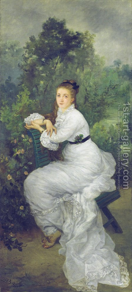 Louise Quivoron aka Woman in the garden by Marie Bracquemond - Reproduction Oil Painting