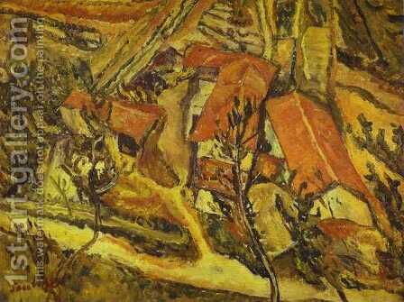Landscape 2 by Chaim Soutine - Reproduction Oil Painting