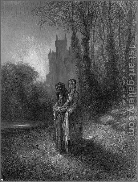 Idylls of the King 7 by Gustave Dore - Reproduction Oil Painting
