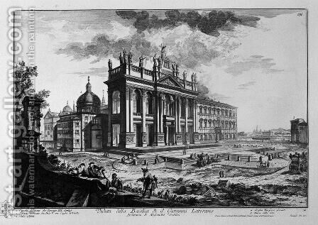 Cell on the inside of the Basilica of St. Paul Outside the Walls by Giovanni Battista Piranesi - Reproduction Oil Painting