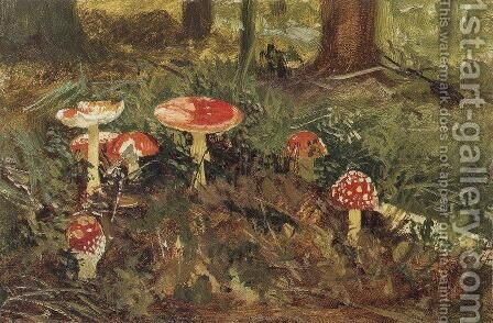 Amanita by Ivan Shishkin - Reproduction Oil Painting