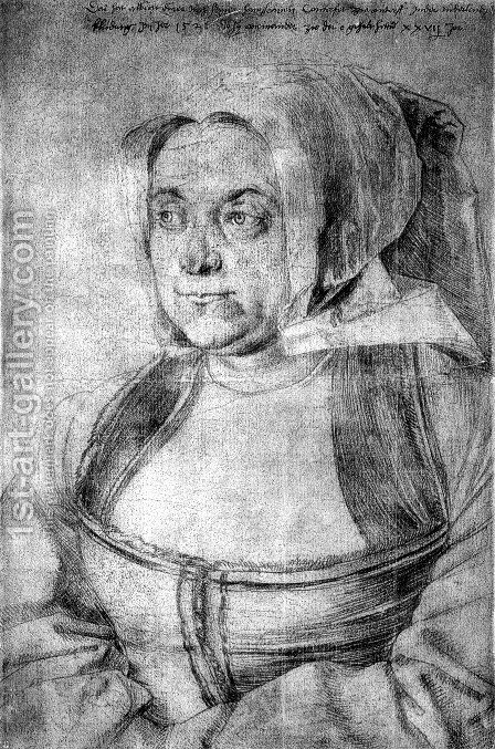 Agnes Durerin in Dutch Tracht by Albrecht Durer - Reproduction Oil Painting