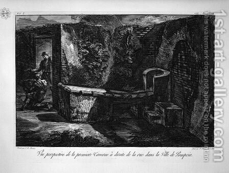 Inside the tavern by Giovanni Battista Piranesi - Reproduction Oil Painting