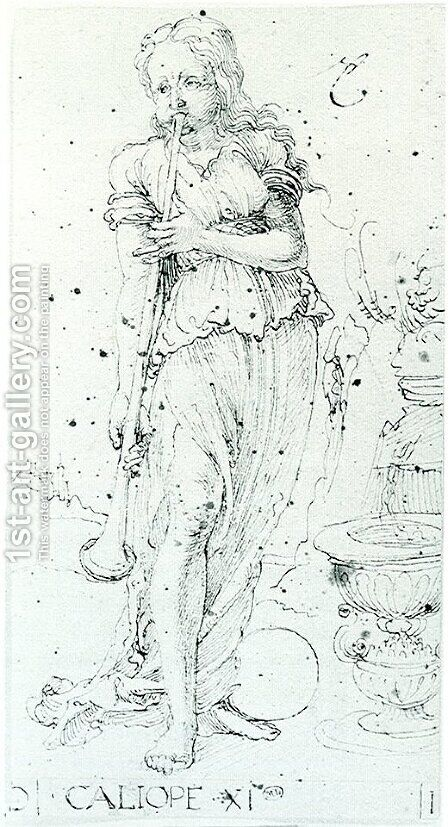 Muse Calliope by Albrecht Durer - Reproduction Oil Painting