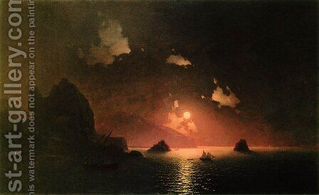 Gurzuf night by Ivan Konstantinovich Aivazovsky - Reproduction Oil Painting
