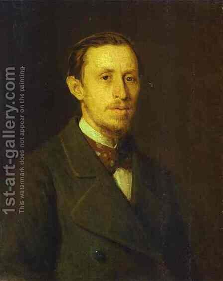 Portrait of an Unknown Man by Ivan Nikolaevich Kramskoy - Reproduction Oil Painting