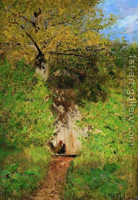 A path by Isaak Ilyich Levitan - Reproduction Oil Painting