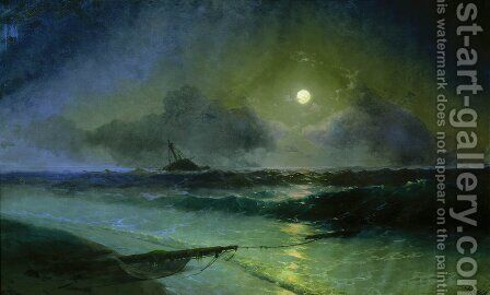 Moonrise in Feodosia by Ivan Konstantinovich Aivazovsky - Reproduction Oil Painting