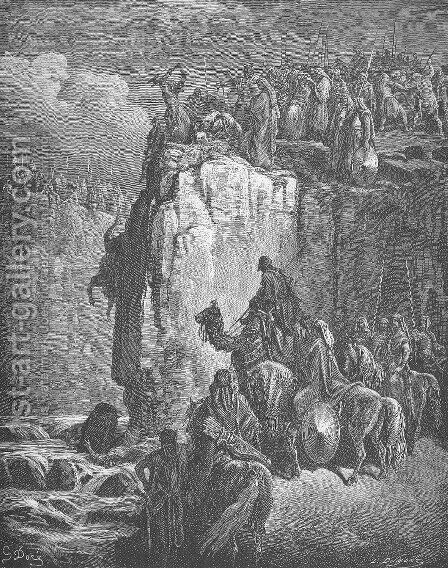 The Prophets of Baal Are Slaughtered by Gustave Dore - Reproduction Oil Painting