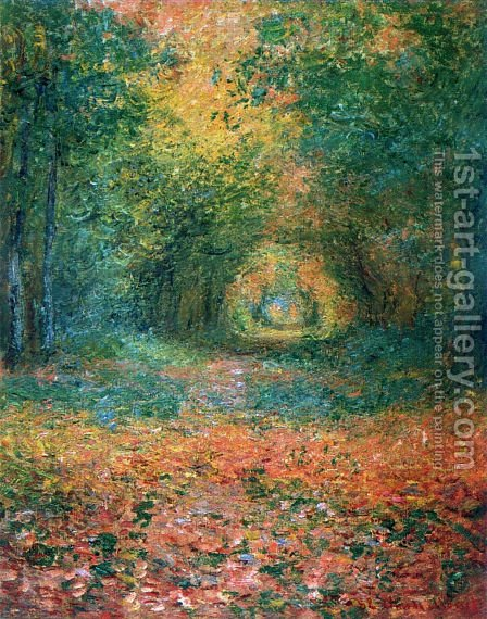 The Undergrowth in the Forest of Saint-Germain by Claude Oscar Monet - Reproduction Oil Painting
