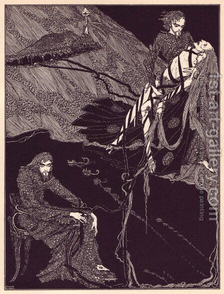 Tales of Mystery and Imagination by Edgar Allan Poe 9 by Harry Clarke - Reproduction Oil Painting