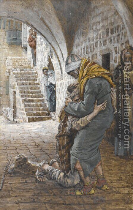 The Return of the Prodigal Son, illustration for 'The Life of Christ' by James Jacques Joseph Tissot - Reproduction Oil Painting