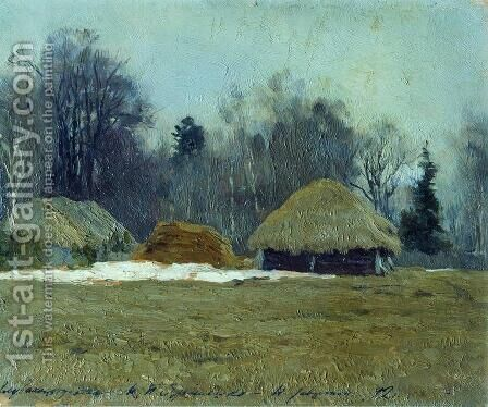 Early spring 2 by Isaak Ilyich Levitan - Reproduction Oil Painting