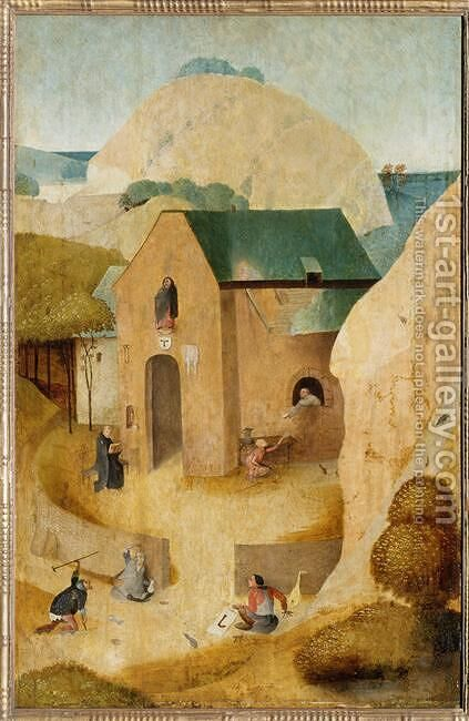 St. James and the Magician Hermogenes by Hieronymous Bosch - Reproduction Oil Painting
