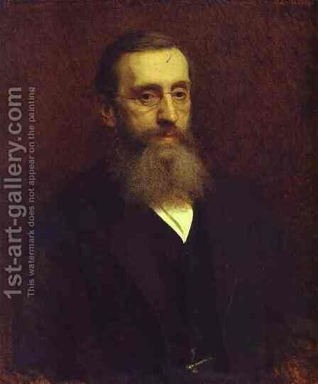 Portrait of Feodor Petrushevsky by Ivan Nikolaevich Kramskoy - Reproduction Oil Painting