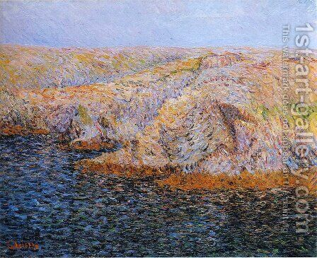 Ice on the Oise river 3 by Gustave Loiseau - Reproduction Oil Painting
