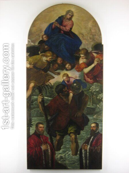 St. Christopher by Jacopo Tintoretto (Robusti) - Reproduction Oil Painting