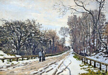 The Road to the Farm of Saint-Simeon by Claude Oscar Monet - Reproduction Oil Painting