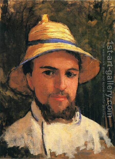 Self-Portrait with Pith Helmet by Gustave Caillebotte - Reproduction Oil Painting