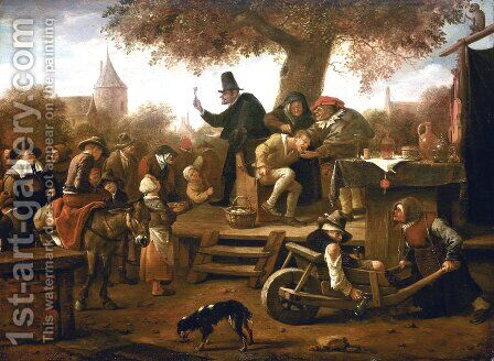 Quack by Jan Steen - Reproduction Oil Painting
