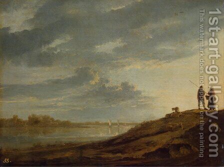 Sunset over the River by Aelbert Cuyp - Reproduction Oil Painting