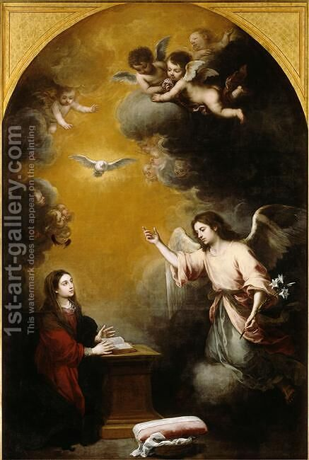 The Annunciation by Bartolome Esteban Murillo - Reproduction Oil Painting