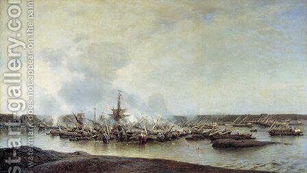The Battle of Gangut, July 27, 1714 by Aleksei Petrovich Bogolyubov - Reproduction Oil Painting
