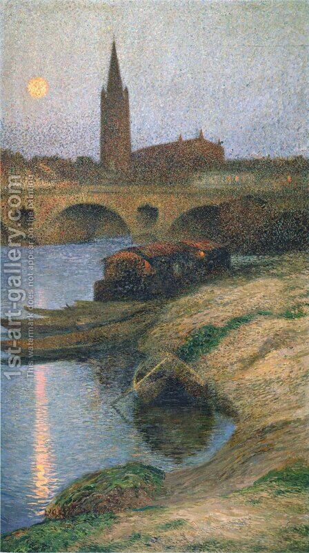 The Church of Dalbade in Toulouse by Henri Martin - Reproduction Oil Painting